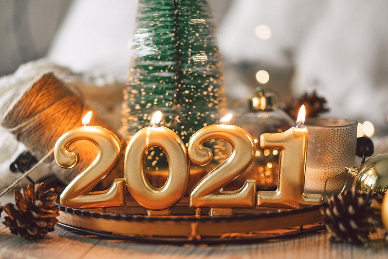 Happy New Years 2021. Christmas backgrou