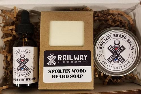 Sportin Wood Gift Set