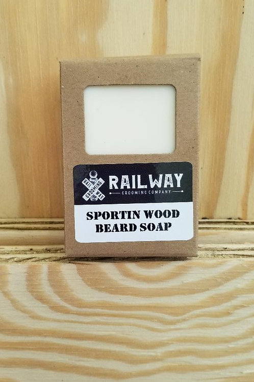 Sportin Wood Beard Soap