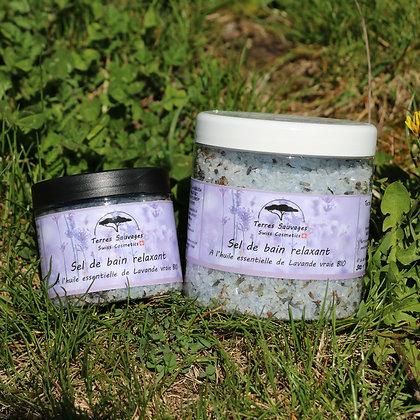Sel de bain relaxant à l'huile essentielle de Lavande vraie BIO