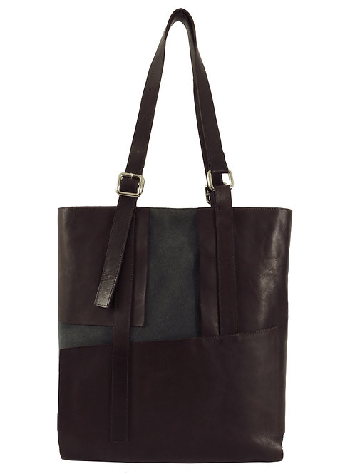 Kulma - Tote in brown and grey