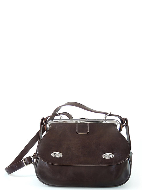 METRO - Frame bag in brown