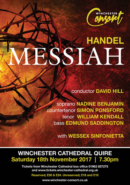 Poster and programme for Winchester Consort