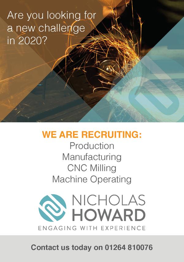 Advert for Nicholas Howard recruitment