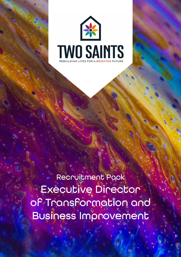 Recruitment pack for Two Saints Charity