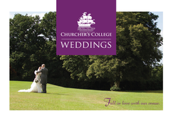 Wedding brochure for Churcher's College