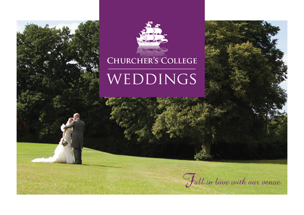 Wedding brochure for Churcher's College