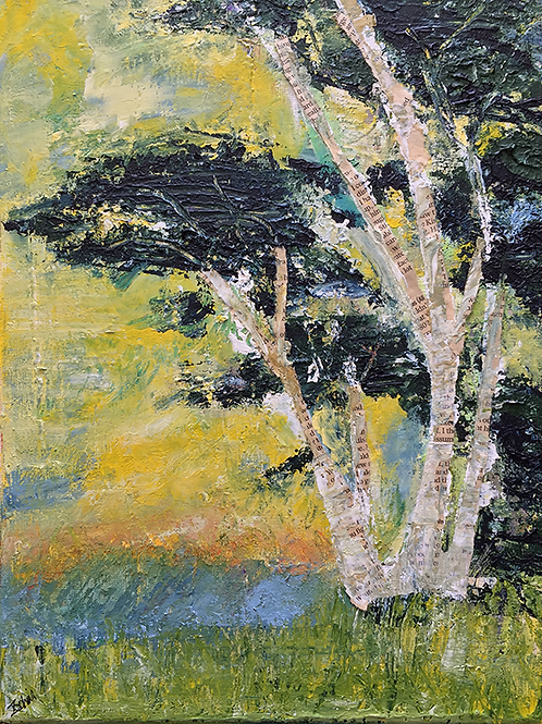 Gum tree in yellow by Tina Scahill