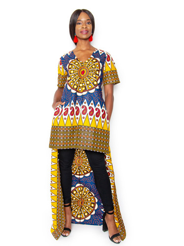 4d8eabdef46 Hawa High Low Top Dress - Tribal