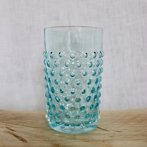 Hobnail Tumbler Aquamarine