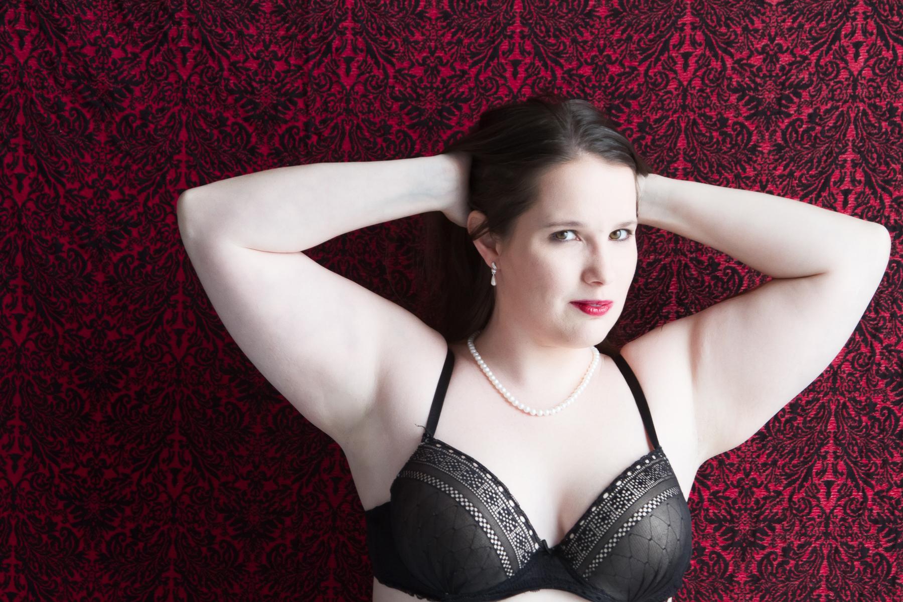 Boudoir Photography Idea, Black Lace Boudoir