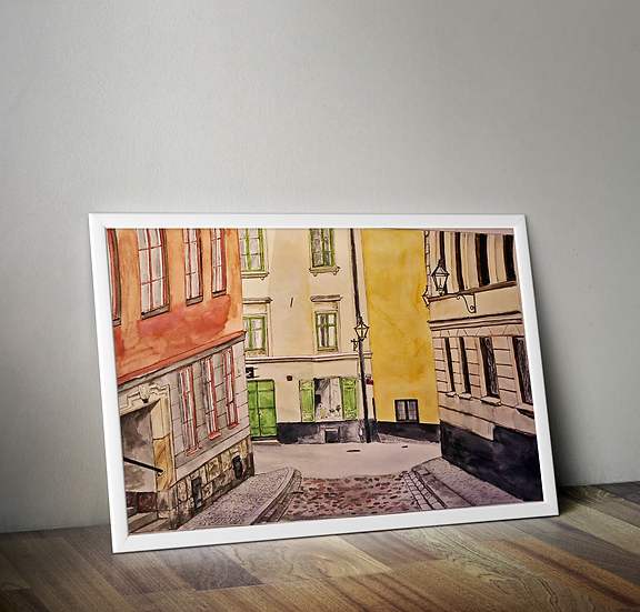 Gamla sta´n A3 print