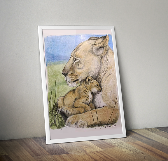 Lejonhonan, print 21x26,4 cm