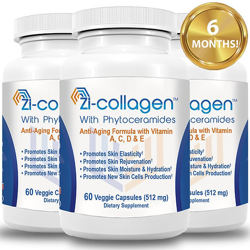 3 Zi-collagen (60 Capsules 512 mg) 6 Months