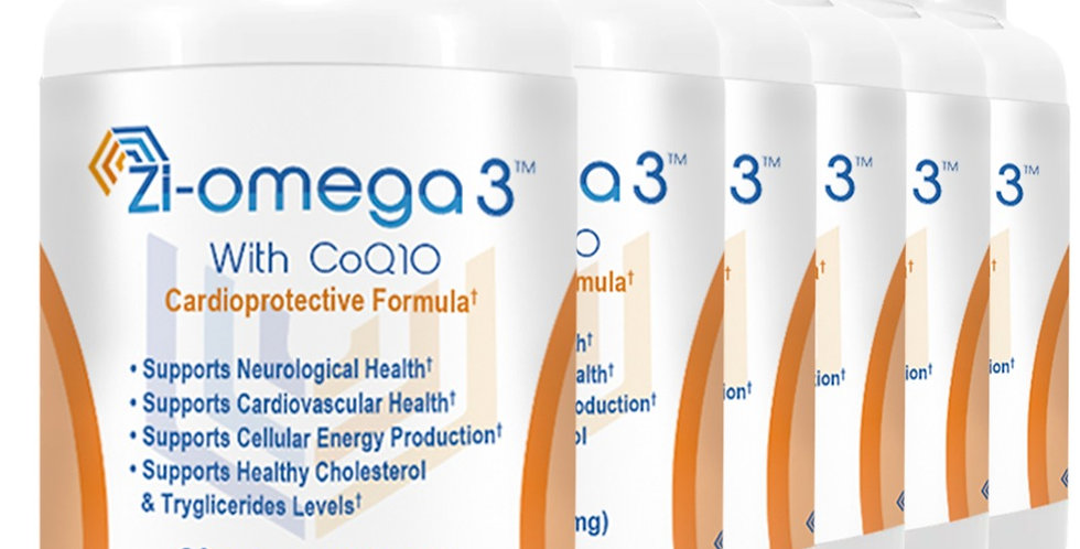 6 Zi-omega 3 with CoQ10 (60 capsules 1330 mg) 6 Months