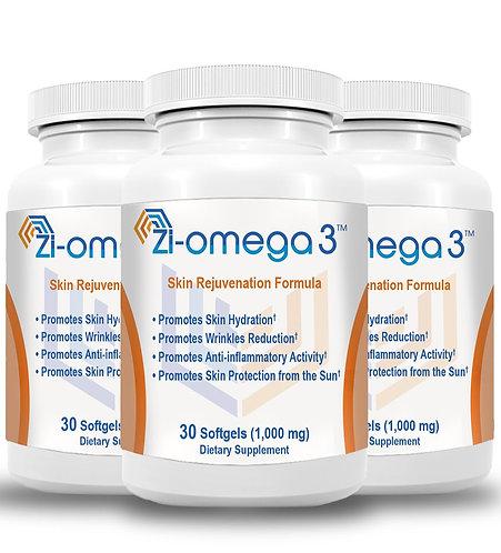 3 Zi-omega 3 (30 Softgels 1,000 mg) 3 Months