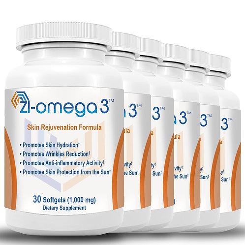 6 Zi-omega 3 (30 Softgels 1,000 mg) 6 Months