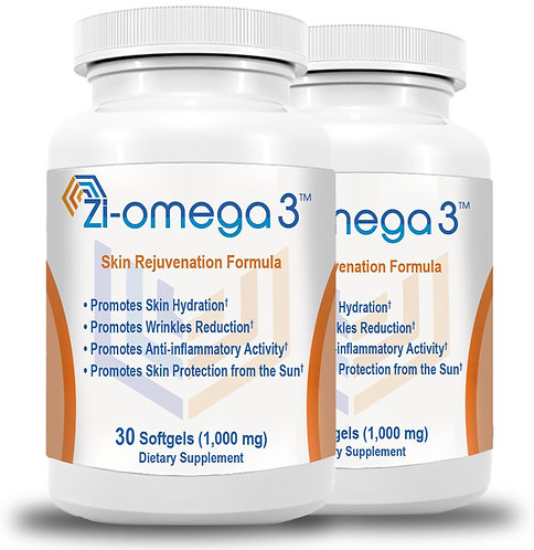 2 Zi-omega 3 (30 Softgels 1,000 mg) 2 Months