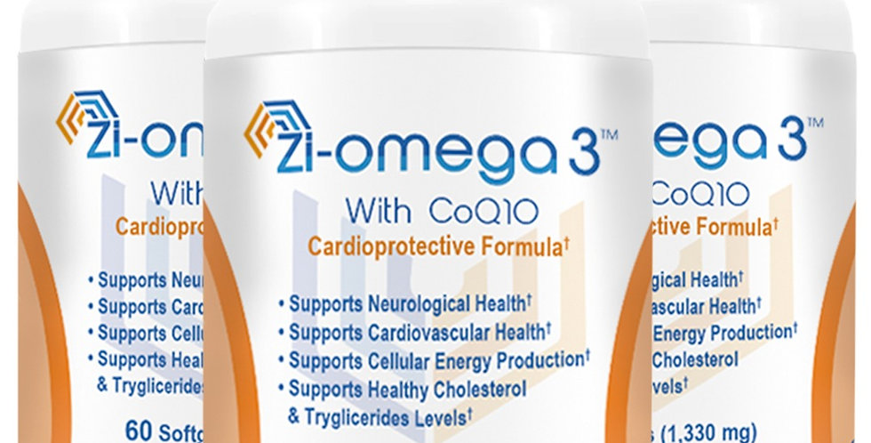 3 Zi-omega 3 with CoQ10 (60 capsules 1330 mg) 3 Months