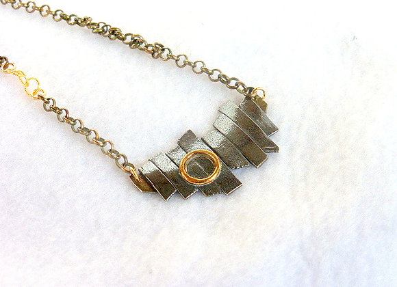 Black & Gold Fence Post Pendant