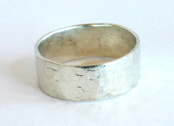 Textured Silver Band, Thin