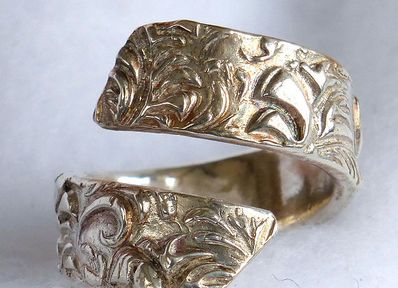 Textured Cross-over Ring
