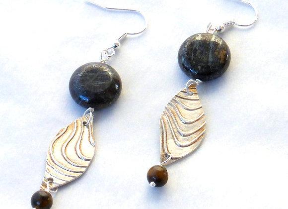 Obsidian & Silver Waves