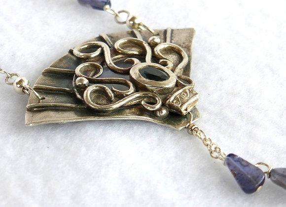 Sapphire Fan Pendant