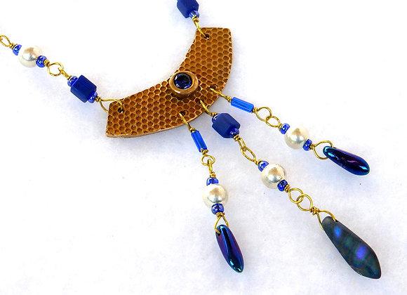 Streaming Bead & Bronze Pendant
