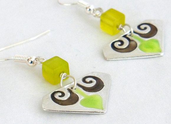 Yellow Fleur-de-lis Earrings