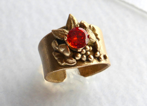 Bronze Floral Ring