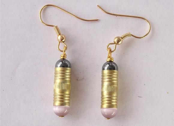 Hematite Ferrule Earrings