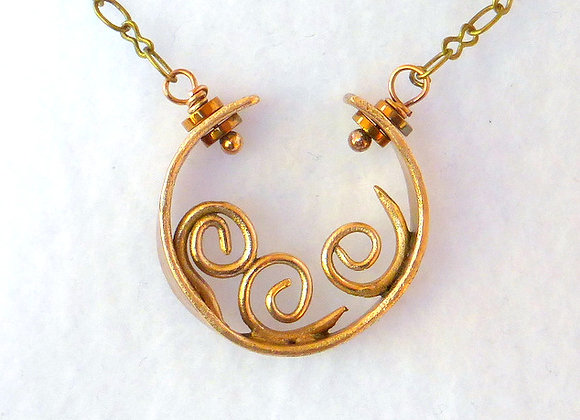 Coils in Circle Pendant