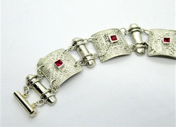 Tube-linked Chain Bracelet