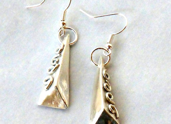 3-Dimensional Triangle Earrings
