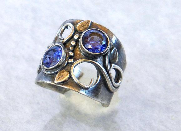 Tanzanite Coils Ring