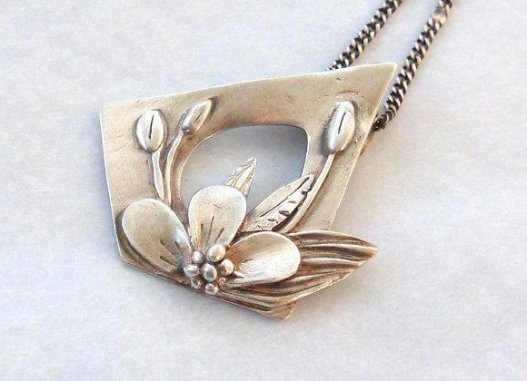 Sculpted Floral Pendant
