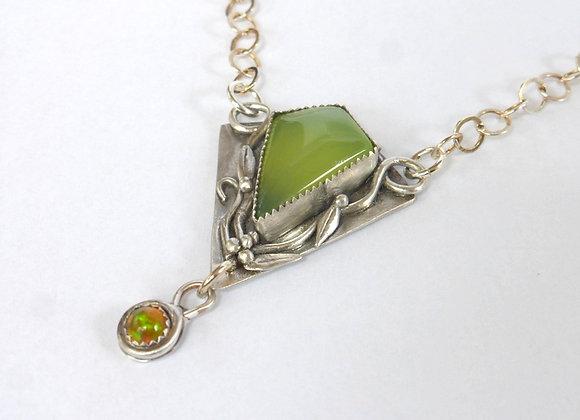 Spring Green Chalcedony Pendant