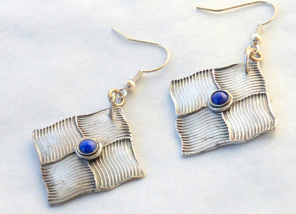 Patchwork Lapis Earrings