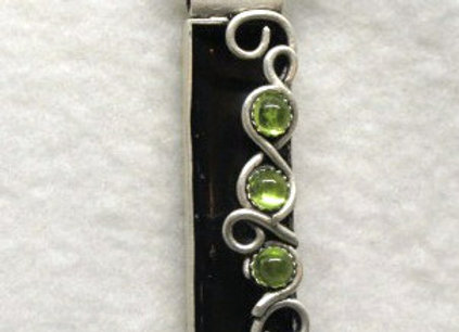 Peridot & Black Pendant