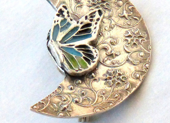 Crescent Butterfly Pin