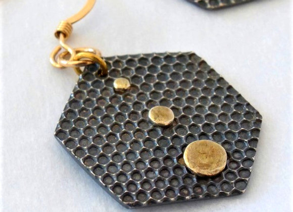 Black & Gold Hexagons
