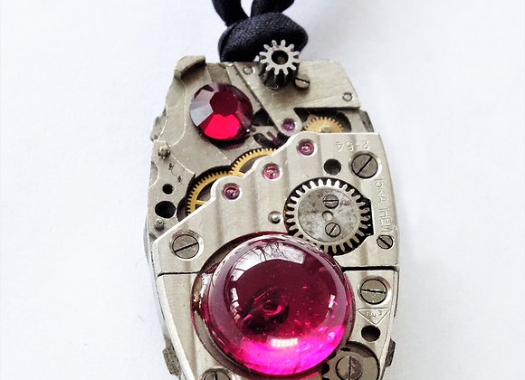 Cherry Watch Steampunk Pendant