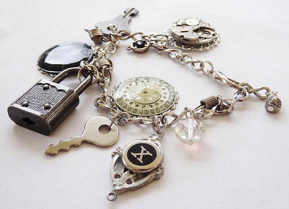 Lock & Key Charm Bracelet