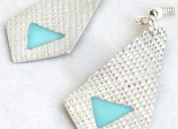 Mint Green Textured Earrings