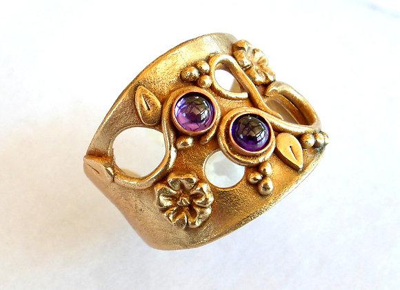 Open Shank Amethyst Ring