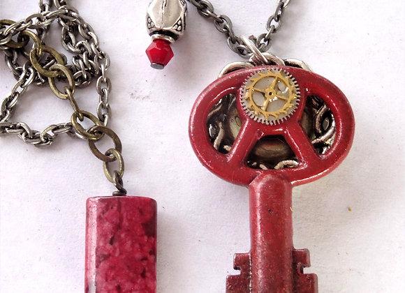 Red Key Pendant