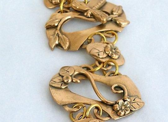 Hand-Formed Coil Bracelet
