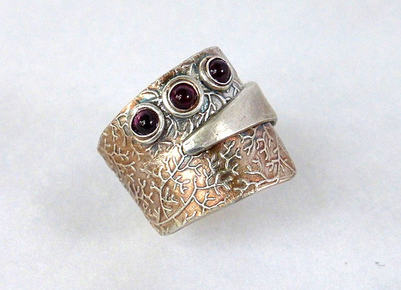 Triple Garnet Wrap Ring