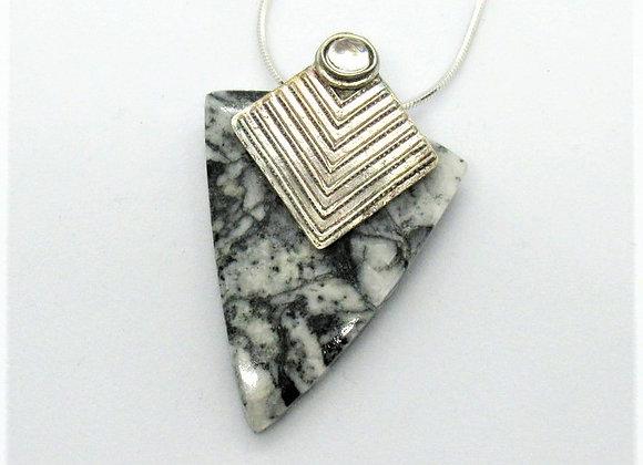 Marbled Plinolith Pendant